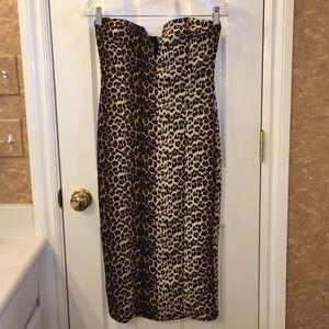 🙂 Charlotte Russe Animal Print Strapless Dress